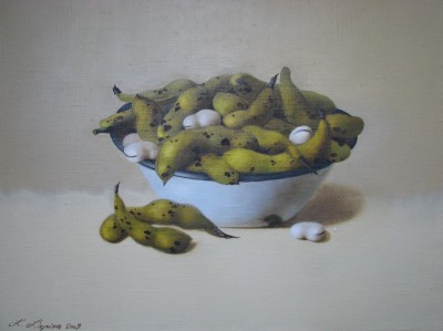 """Beans"", oil on canvas"
