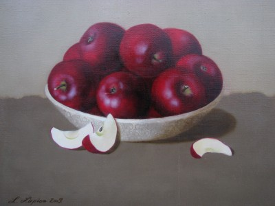 """Red apples I"", oil on canvas"