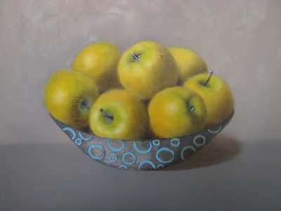 """Yellow applea"", oil on canvas"