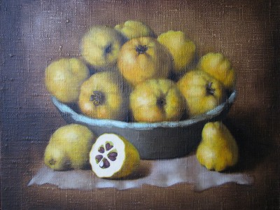 """Quinces"", oil on canvas"