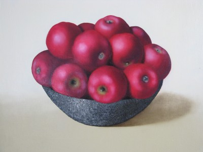 """Red apples II"", oil on canvas"
