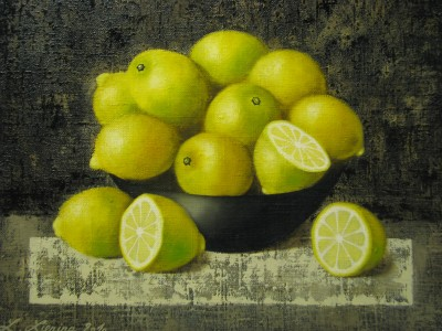 """Lemons"", oil on canvas"