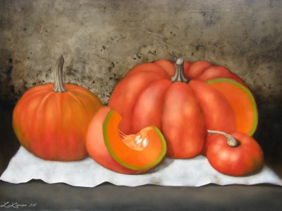 """Pumpkins II"", oil on canvas, 50x70 cm"