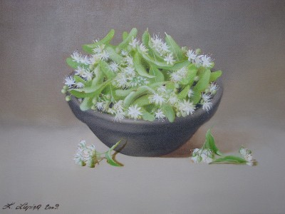 """Lime-blossom"", oil on canvas"