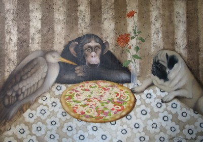 """Pizza"", oil on canvas"