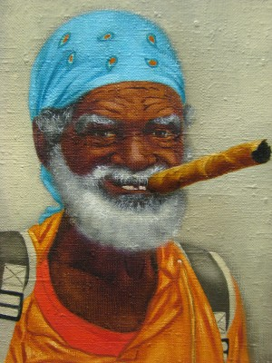 """Cuban"", oil on canvas"