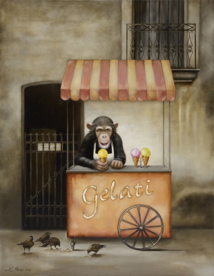 """Gelati"", oil on canvas, 115x90 cm"